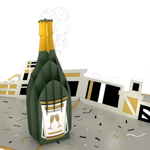 Loveopop Champagne Celebration 3D Pop Up Card