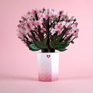 Lovepop Cherry Blossom Bouquet 3D Pop Up Card