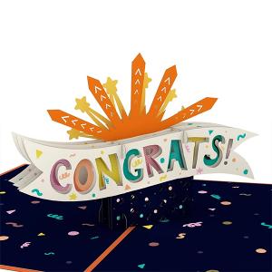 Lovepop Congrats Explosion 3D Pop Up Card