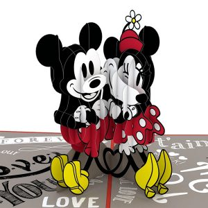 Lovepop Disney Mickey and Minnie In Love 3D Pop UP Card