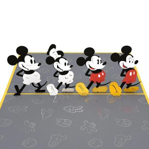 Lovepop Disney Mickey and Minnie Through The Years 3D Pop Up Card