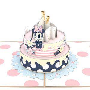Lovepop Disney Minnie Mouse Birthday Cake 3D Pop Up Card