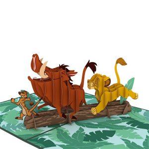 Lovepop Disney The Lion King No Worries Hakuna Matata 3D Pop Up Card