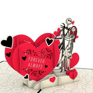 Lovepop Disney Tim Burton's The Nightmare Before Christmas Simply Meant To Be 3D Pop Up Card