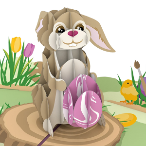 Lovepop Easter Bunny with Egg 3D Pop Up Card