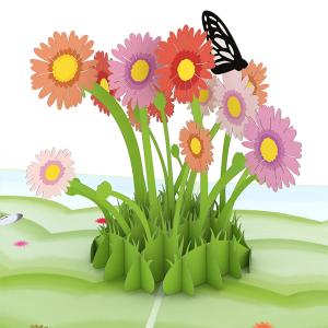 Lovepop Easter Daisy Patch 3D Pop Up Card