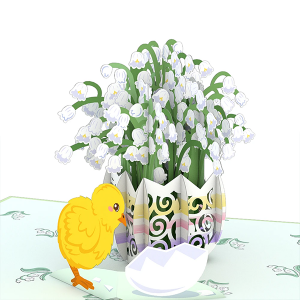 Lovepop Easter Lily of the Valley 3D Pop Up Card