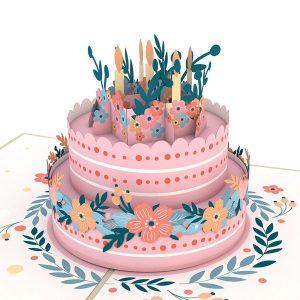 Lovepop Floral Birthday Cake 3D Pop Up Card