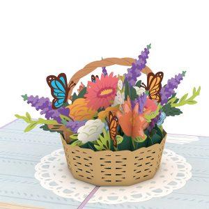 Lovepop Flower Basket 3D Pop Up Card