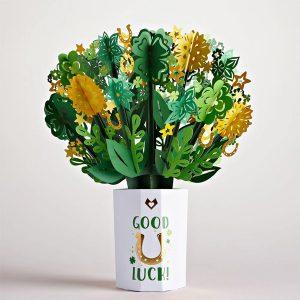 Lovepop Good Luck Flower Bouquet 3D Pop Up Card