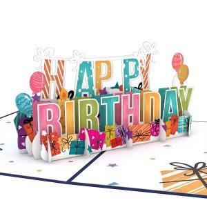 Lovepop Happy Birthday 3D Pop Up Card