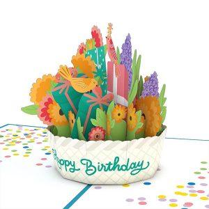 Lovepop Happy Birthday Basket 3D Pop Up Card