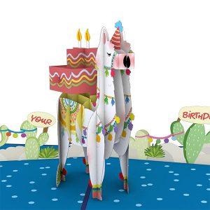 Lovepop Happy Birthday Llama 3D Pop Up Card