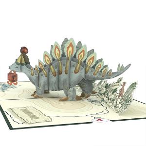 Lovepop Happy Birthday Stegosaurus 3D Pop Up Card