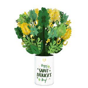Lovepop Happy Saint Patrick's Day Bouquet 3D Pop Up Card