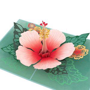 Lovepop Hibiscus Bloom 3D Pop Up Card