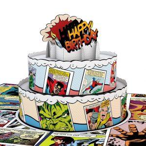 Lovepop Marvel Comic Birthday Cake 3D Pop Up Card