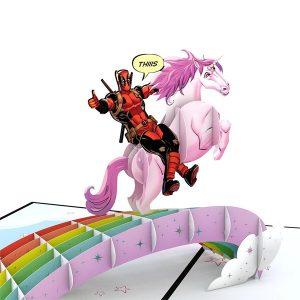 Lovepop Marvel Deadpool Birthday 3D Pop Up Card