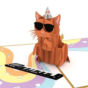 Lovepop Party Cat 3D Pop Up Card