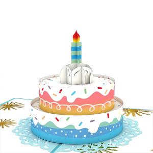 Lovepop Rainbow Birthday Cake 3D Pop Up Card