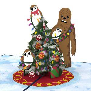 Lovepop Star Wars Chewie and Porgs 3D Pop Up Card