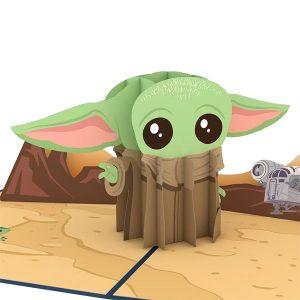 Lovepop Star Wars The Mandalorian The Child Baby Yoda 3D Pop Up Card