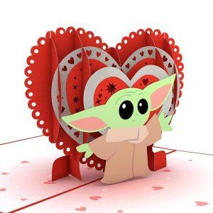 Lovepop Star Wars The Mandalorian The Child Valentine's Way 3D Pop Up Card