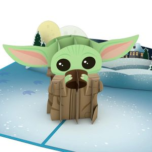 Lovepop Star Wars The Mandalorian The Child Warm Holiday Wishes 3D Pop Up Card