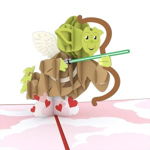 Lovepop Star Wars Yoda Cupid 3D Pop Up Card
