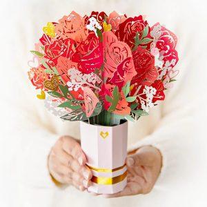 Lovepop Sweetheart Flower Bouquet 3D Pop Up Card