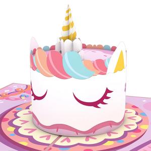 Lovepop Unicorn Cake 3D Pop Up Card