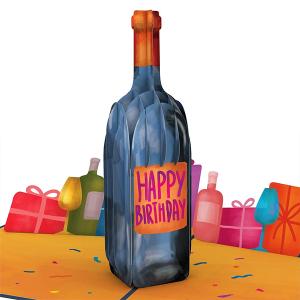 Lovepop Vintage Wine Birthday 3D Pop Up Card
