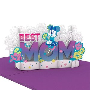 Hyegraph Invitations Lovepop Disney's Minnie Mouse Best Mom 3D Pop Up Card