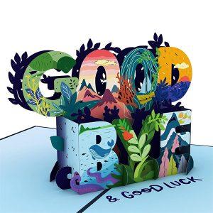 Hyegraph Invitations Lovepop Goodbye & Good Luck 3D Pop UP Card