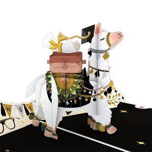 Hyegraph Invitations Lovepop Graduation Llama 3D Pop Up Card