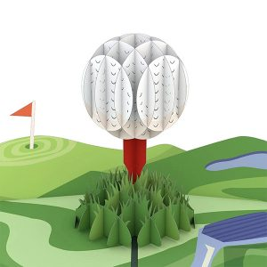 Hyegraph Invitations Lovepop Hole In One 3D Pop Up Card