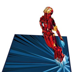 Hyegraph Invitations Lovepop Marvel Iron Man I Love You 3000 3D Pop Up Card