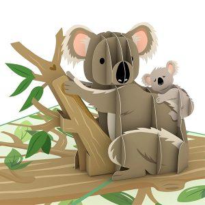 Hyegraph Invitations Lovepop Koala Family 3D Pop Up Card