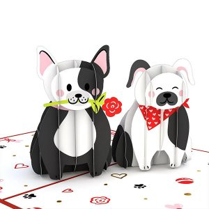 Hyegraph Invitations Lovepop Love Dogs 3D Pop Up Card