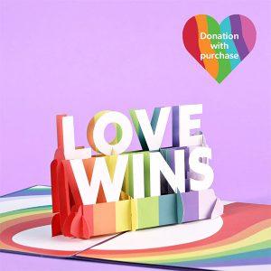 Hyegraph Invitations Lovepop Love Wins 3D Pop Up Card