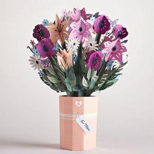 Lovepop Mother's Day Flower Bouquet 3D Pop Up Card