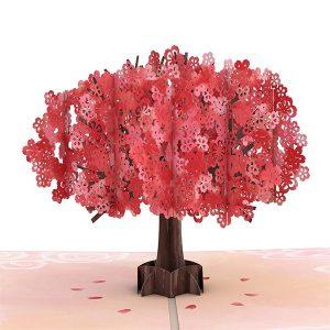 Lovepop Mother's Day Red Sakura 3D Pop Up Card