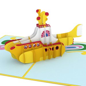 Hyegraph Invitations Lovepop The Beatles Yellow Submarine 3D Pop Up Card
