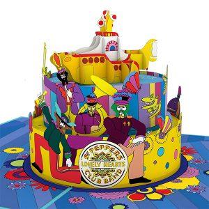 Hyegraph Invitations Lovepop The Beatles Yellow Submarine Birthday Cake 3D Pop Up Card