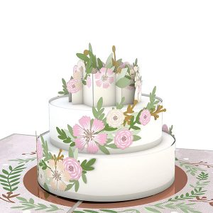 Hyegraph Invitations Lovepop Wedding Cake 3D Pop Up Card