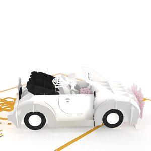 Hyegraph Invitations Lovepop Wedding Car 3D Pop Up Card