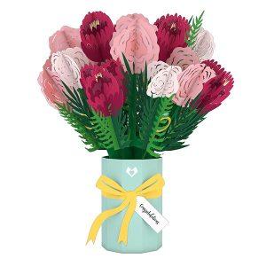 Hyegraph Invitations Lovepop Wedding Congratulations Bouquet 3D Pop Up Card
