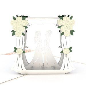 Hyegraph Invitations Lovepop Wedding Couple Same Sex Female 3D Pop Up Card