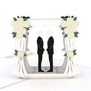 Hyegraph Invitations Lovepop Wedding Couple Same Sex Male 3D Pop Up Card